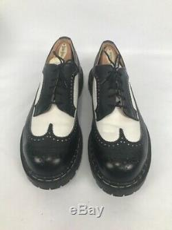 Gripfast Black / White Steel Cap Toe Oxford Shoes US 11 Made in England WOW