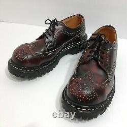 Gripfast Leather Steel Toe Brogue Wingtip Oxford Shoes UK 4 US 6 Made in England