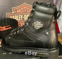 Harley-Davidson Men's Side Zip Safety Toe EH Motorcycle Boots Work Shoes D93480