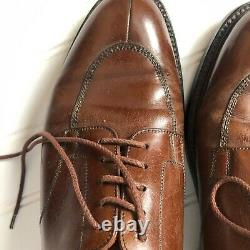 J M Weston Model Protege Demi Chasse Brown Lace Up Steel Toe Shoes US 8