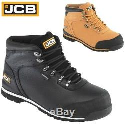 Jcb Waterproof Mens Leather Safety Work Boots Steel Toe Cap Wide Fit Shoes Size