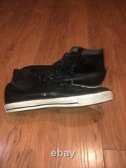 John Varvatos Converse X All Star Double Zip Steel Toe Shoes Distressed RARE 12