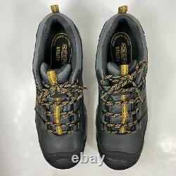 KEEN Utility Low Men's Size 12 D Steel Toe Work Safety Shoes Black/Gray F2413-11