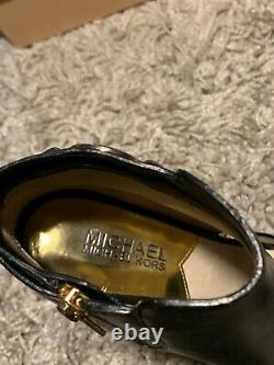 MICHAEL KORS womens shoes size 6M Brand New with box Black leather Open toe
