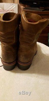 Mens Barely Used Chippewa Steel Toe Logger Size 12 EE Brown