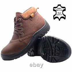 Mens Leather Warm Lightweight Safety Steel Toe Cap Work Boots Trainers Shoes Sz