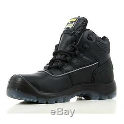 Mens Leather Waterproof Safety Steel Toe Cap Work Ankle Hiker Boots Shoes Size