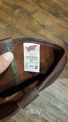 Mens Red Wing Pecos Brown Leather Steel Toe Work Boots Size 12