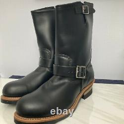 Mens Red Wing Shoes 2268 Engineer Black Steel Toe Boots Size 9.5