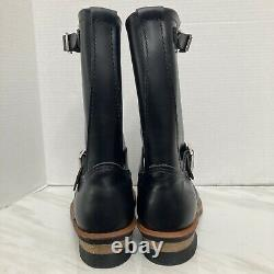Mens Red Wing Shoes 2268 Engineer Boots Black Steel Toe Sz 7 E2 Wide $365 Retail