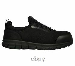 Mens Skechers Synergy-Omat Slip On Steel Toe/Midsole Safety Shoes Sizes 7 to 13