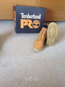 Mens Timberland Pro Safety Nubuck Boots Work Ankle Steel Toe Cap Shoes Size 10