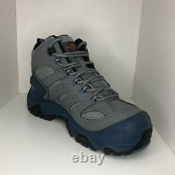 Merrell Boots Steel toe Work Shoes Strongfield Mid Gray J35201W Mens Sz 8.5 wide
