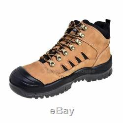 Mongrel Work Boots 480070. Tan Hiker Boot, Steel Safety Toe Cap. UPDATED STYLE