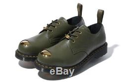 NEW A BATHING APE x Dr. Martens ABC 3 HOLE STEEL TOE CAP SHOES Black or Olive