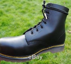 NEW Vintage Dr Martens Skinhead Boots UK 9 STEEL TOE 1988 Made in England