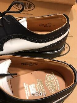 NPS SOLOVAIR Black/White Brogue Steel Toe Boots Shoes! SizeUK11! New! Only£129.90