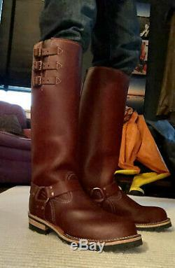 New 20 Wesco Boss Boots with Brass Harness Ring and Triple Straps