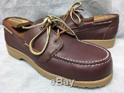 New 80s RED WING Safety Toe Oxford Mens US Size 8 EE(wide) #6632 Boat Shoe USA