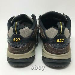 New Balance 627 Steel Toe MID6270 Black Leather Shoes Size 10.5 (4E) XWIDE