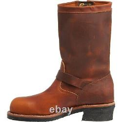 New Chippewa 1 Original Engineer Work Boots Steel Toe Brown Leather 2nds SZ 8 E