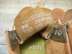 New Old Stock Lehigh Men's Brown Leather Work Lace Up Steel Toe Boots Size 9.5