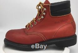 New Red Wing 2245 Red Safety Boots Steel toe Made in USA Size 7.5 D NWOB