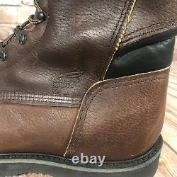 New Red Wing Shoes Steel Toe 8 Work Boots Mens Size 15 D Brown Leather 2264