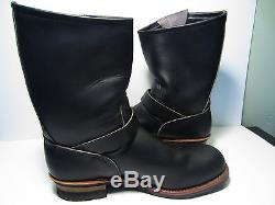 New Vintage Red Wing 2268 Engineer Motorcycle Leather Steel Toe Boots Size 12 D