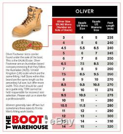 Oliver 65493 240mm Work Boots Steel Cap Safety Pull On Riggers 100% WATERPROOF