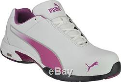Puma Safety 642805 Velocity Womens White Low Steel Toe ASTM SD Oxford Work Shoes