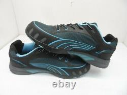 Puma Women's Fuse Motion SD Steel Toe Safety Work Shoes Black/Blue Size 10M