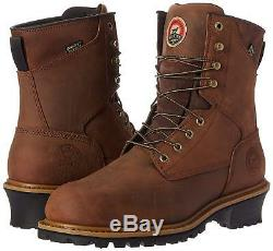 RED WING IRISH SETTER steel toe, logger boots waterproof insulated size 9.5 D