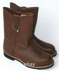RED WING SHOES Pecos 9 Pull On Steel Toe Boots 966 Mens 8.5 NEW Factory 2nd