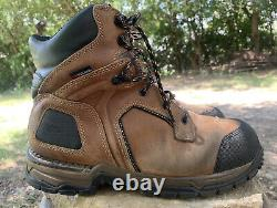 Red Wing 2401 Work Boots Brown Leather Steel Toe Safety Shoe Men's Size 10.5 EE
