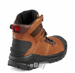 Red Wing 2436 Men Safety Brown 6-inch Boots Aluminium Toe USA MADE size 8 D