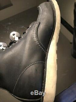 Red Wing 9075 Boots Sz 10.5d Black Steel Moc Toe Made In USA Work Construction