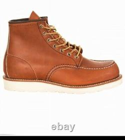 Red Wing Heritage 6 Inch Moc Toe Boots Size UK 6.5 US 7.5 D Brand New Shoes Tan