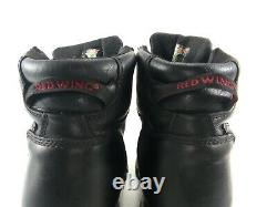 Red Wing Men's Steel Toe Boots Black Work Safety Oil slip Resistant Shoes Sz 13D