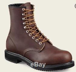 Red Wing Mens 2233 Brown Leather Supersole Steel Toe Work 8 In Boots Size 12
