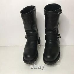 Red Wing Motorcycle Boots Men Size 11 988 Steel Toe Engineer Black Leather Shoes