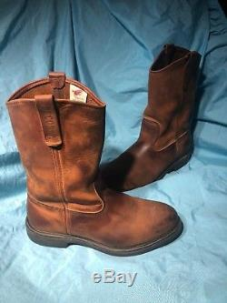 Red Wing PECOS Steel Toe Cowboy Boot 2251, 9.5 EEE XTRA WIDE pull-on USA LEATHER