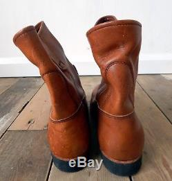 Red Wing Pecos Work Boots Real Leather Steel Toe Cap Size 9 Made in USA