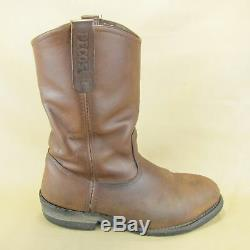 Red Wing Pecos Work Steel Toe Boots 2214 Distressed Wide US 9 E EU 42 Leather