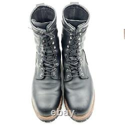 Red Wing Shoes 2218 9 LoggerMax Black Leather Logger Boots Steel Toe 10 D UK 9