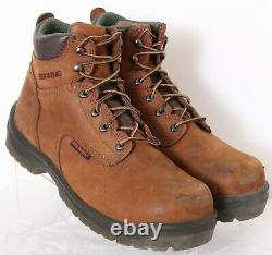 Red Wing Shoes 2235 Brown Lace-Up Leather EH Steel Toe Work Boots Men's US 9D