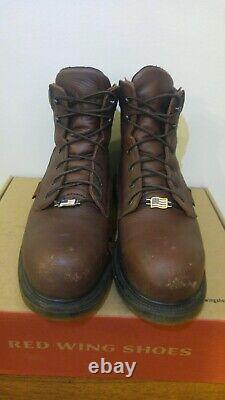 Red Wing Shoes 2406 boots size 9 D steel toe. Leather work boots comfort force