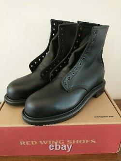 Red Wing Shoes 4473 Mens 10.5 D Steel Toe Work Black Leather Boots Biker