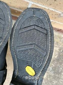 Red Wing Shoes 969 Motorcycle Steel Toe Black Leather Men's Boots UK 10.5