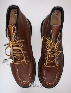 Red Wing Shoes Men 11 3E 8249 6 Inch Steel Toe Safety Boots Brown Leather USA